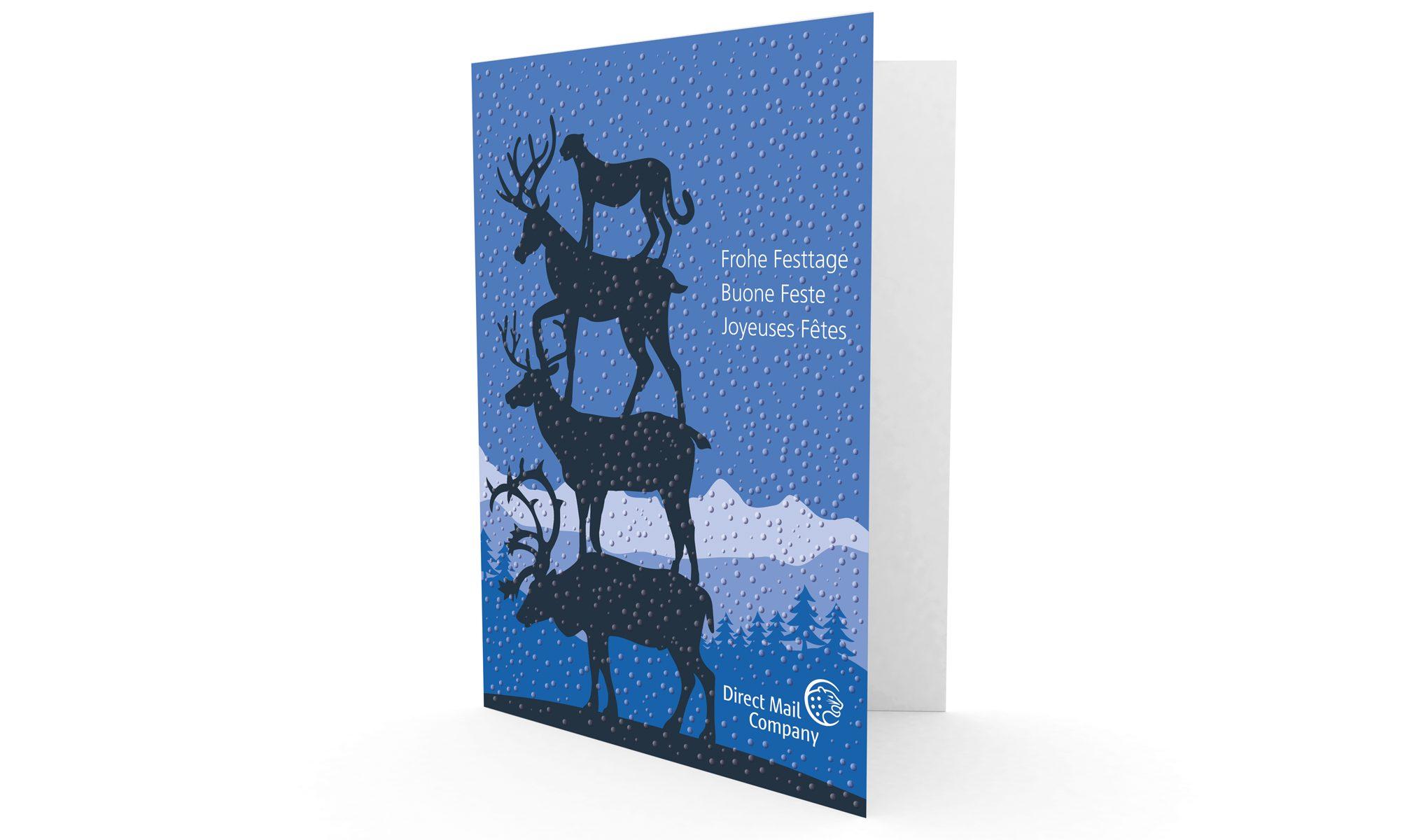 DMC-Weihnachtskarte